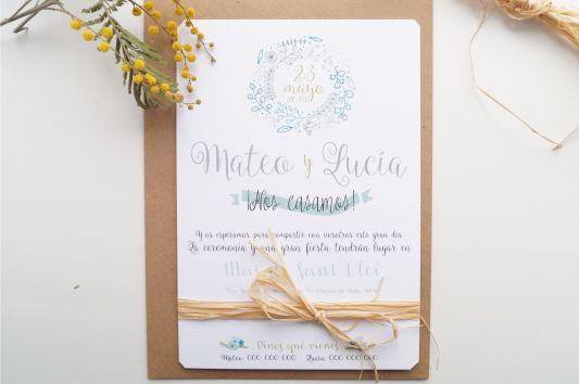 Invitaciones de boda la campestre