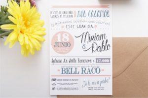 """Invitaciones de boda """"La moderna"""""""