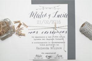 Invitación de boda la elegante portada