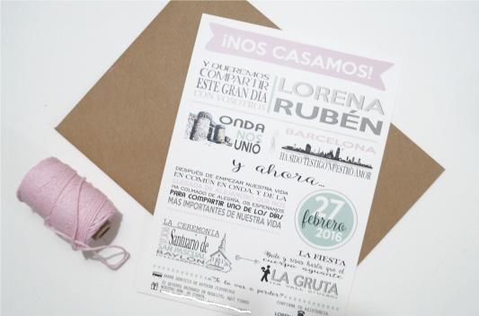 Invitacion de boda ilustraciones