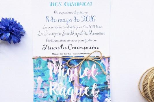 Invitación de boda la floral que mola