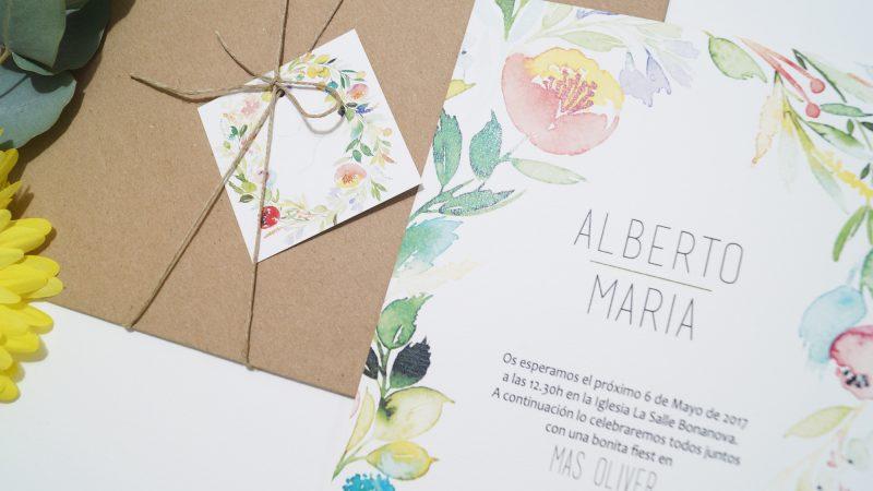 Invitación de boda La Silvestre