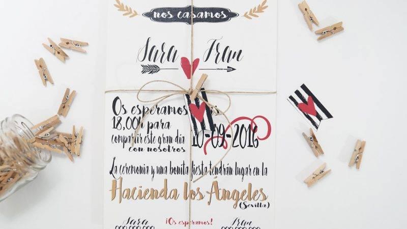 Invitación de boda original y