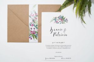 invitacion de boda bouquet flores