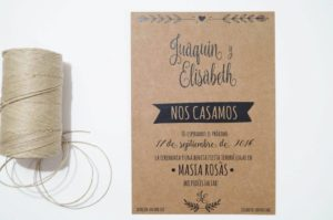 invitacion de boda craft