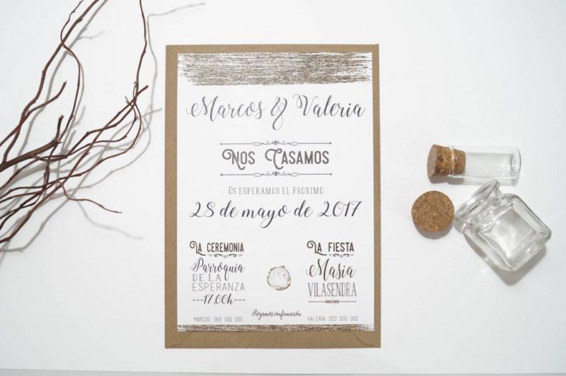 invitacion de boda vintage