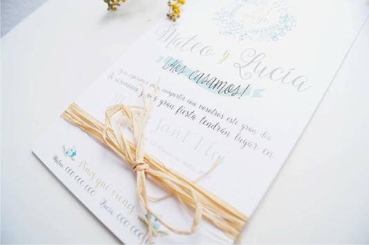 invitaciones de boda la campestre detalle