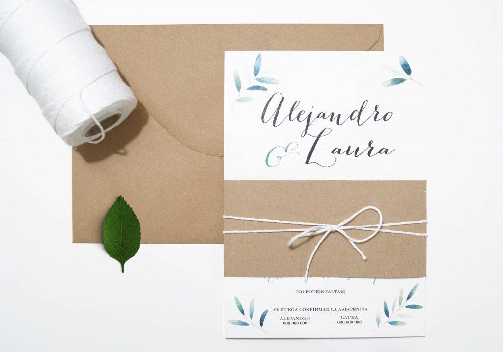 invitaciones de boda olivo