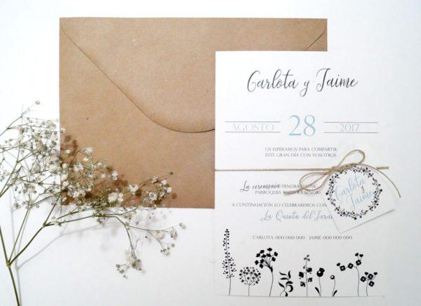 Invitaciones de boda elegantes