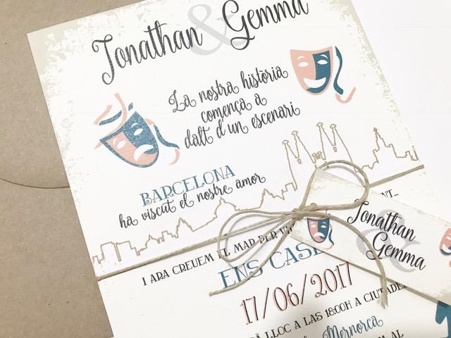 7d00351d52511 BLOG Invitaciones de boda personalizadas - Inspiración  El Teatro