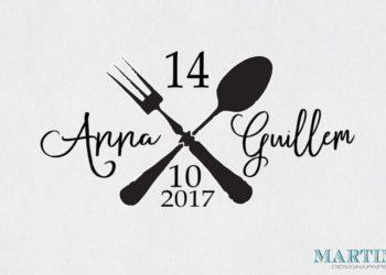 Sello boda personalizado cocineros