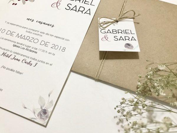 invitacion de boda elegante detalle sobre