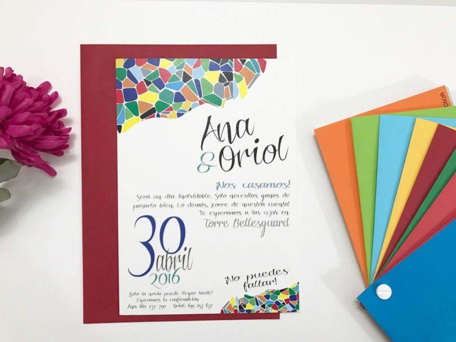 invitacion de boda personalizada
