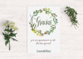 tarjeta agradecimiento boda campestre2