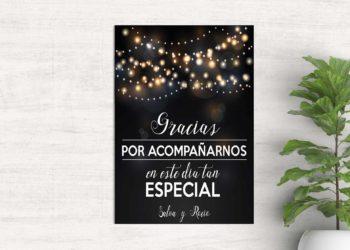 tarjetas de agradecimiento boda verbena
