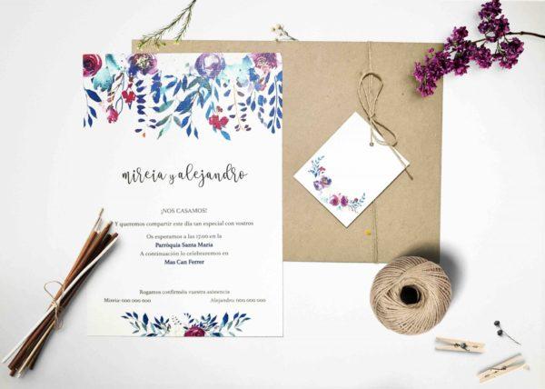 tarjetones boda