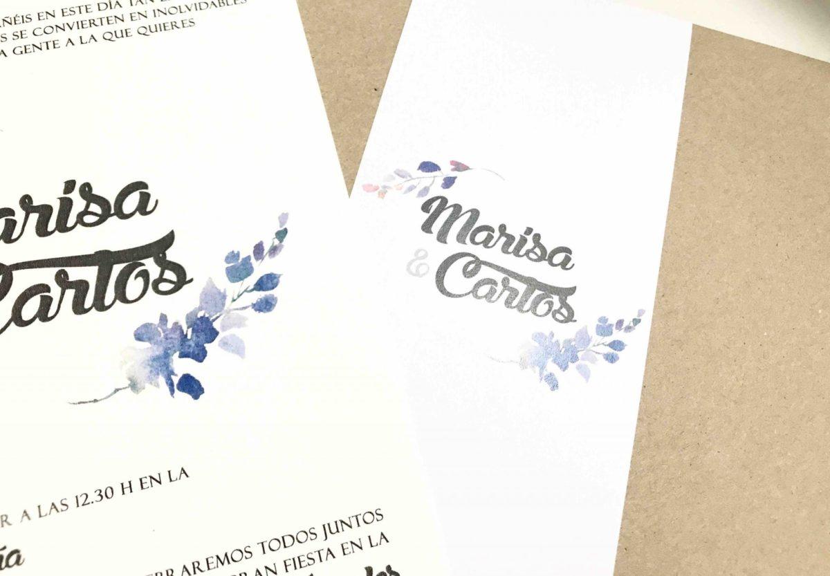 invitacion de boda con sobre decorado detalle