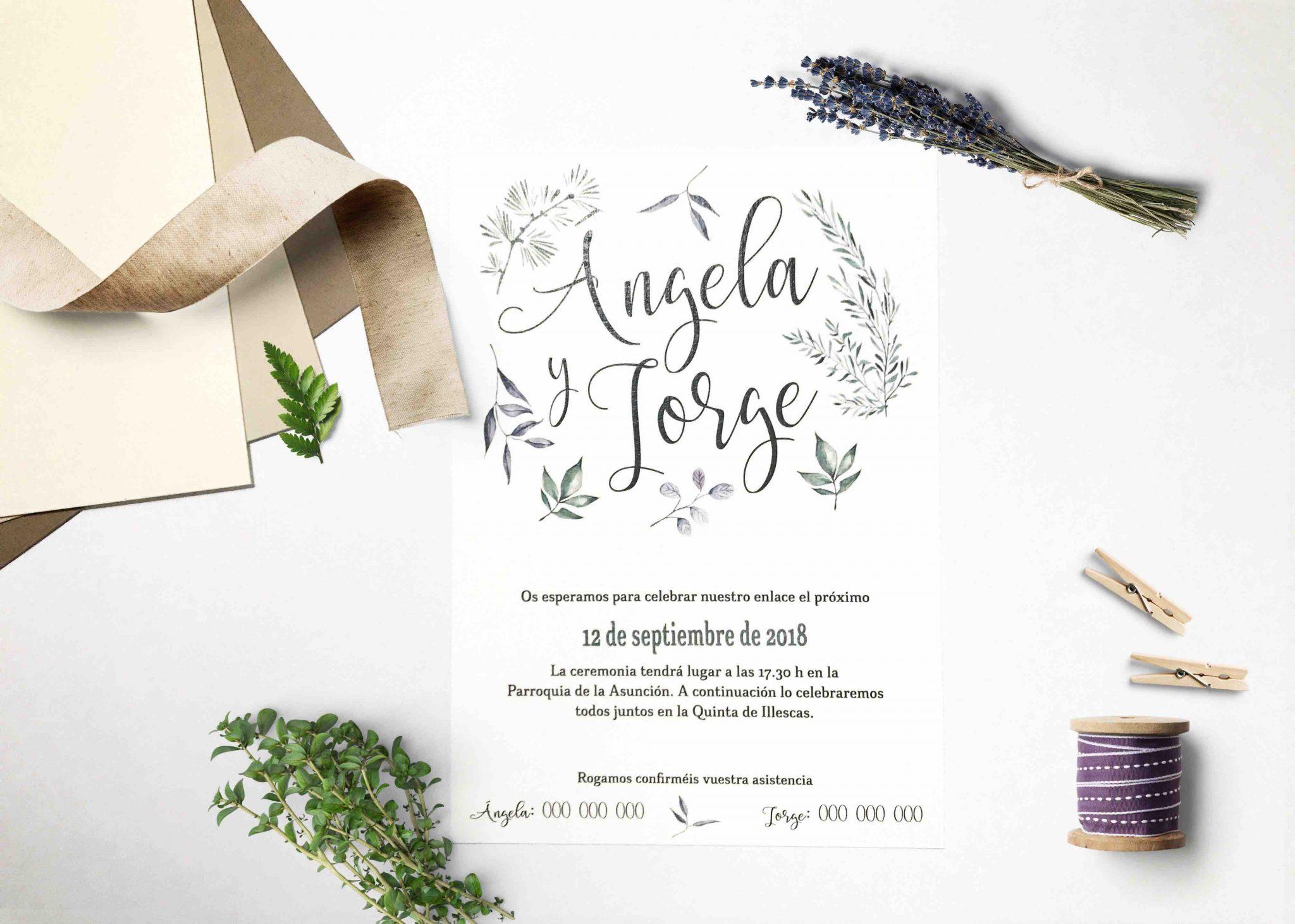 Invitación De Boda La Del Vegetal