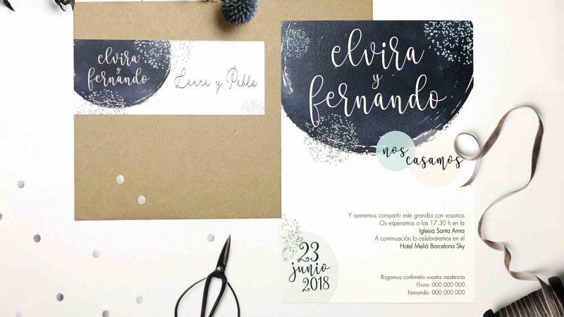 Invitacion de boda original azules invitaci n de boda elipse - Invitacion de boda original ...