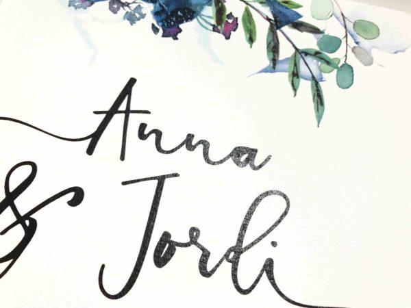 invitacion de boda original urban detalle tipografia