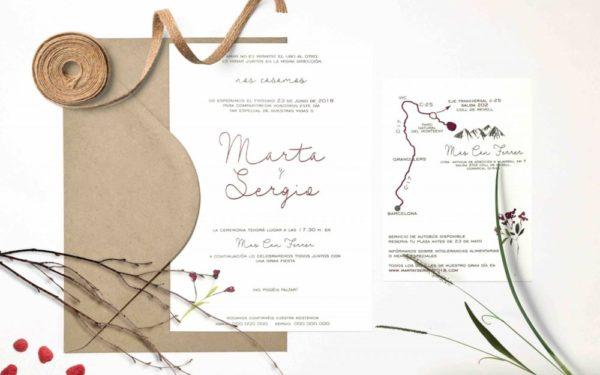 invitaciones de boda sencilla y elegante