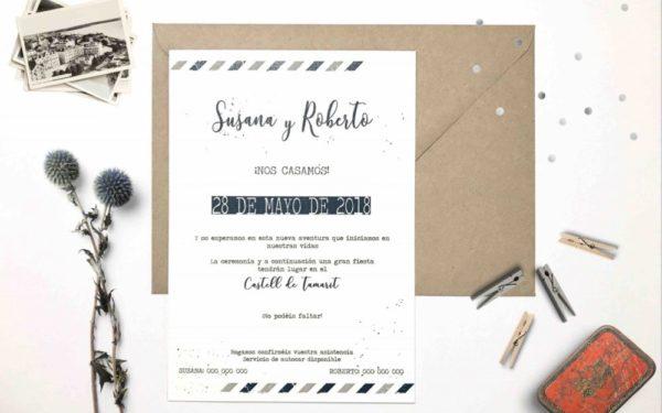 invitacion de boda viaje