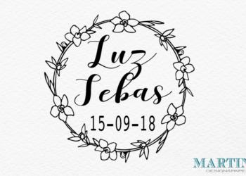 sello de boda original flores