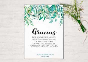 gracias boda eucalipto