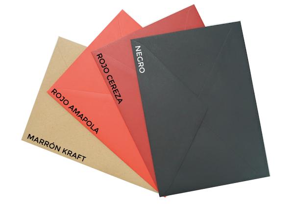 sobres para invitacion de boda colores rojos