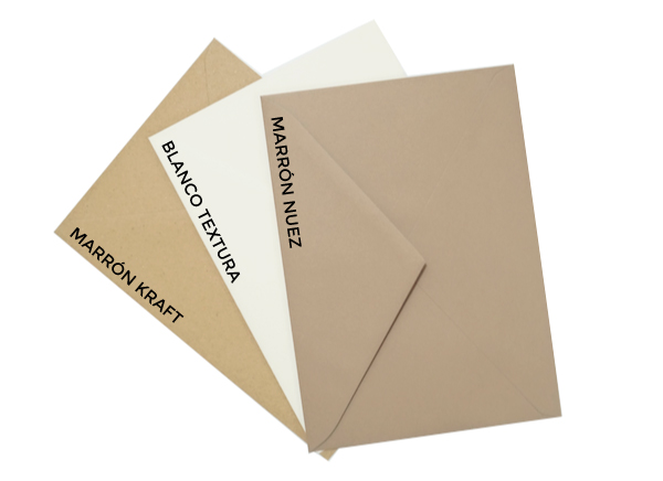 sobres para invitacion de boda colores