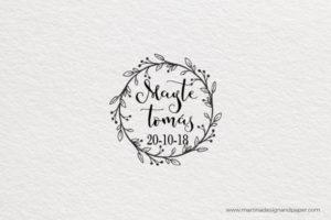 sello para boda vintage invitacion