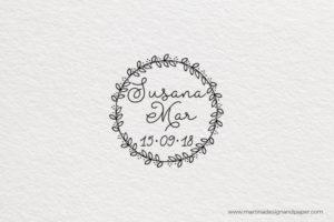 sello para boda personalizado chicas