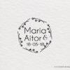 sello de boda con corona flores