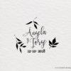 sello de boda estilo rustico