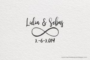 sello de boda infinito