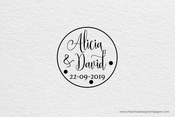 SELLO DE BODA LETRAS ORIGINALES