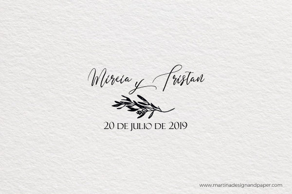 sello de boda olivo
