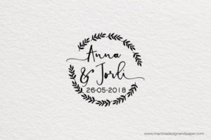 Sello de boda personalizado original
