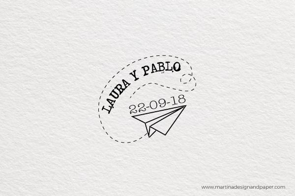 sello de boda viaje