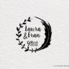 sello de madera para personalizar boda moderno
