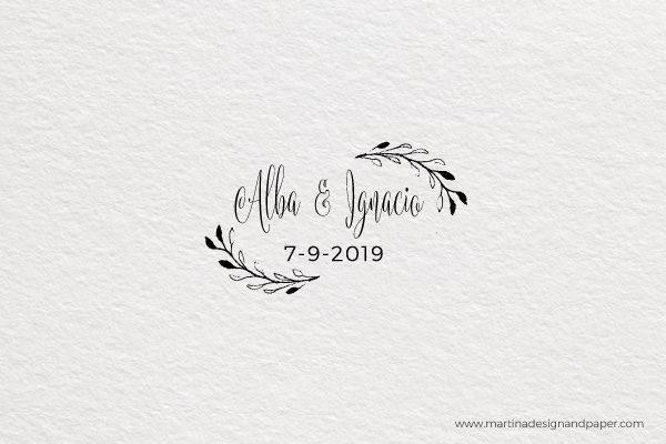 sello de boda nombres elegantes vintage