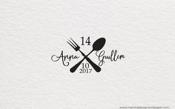 sello para personalizar boda cocineros