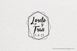 sello para personalizar boda original