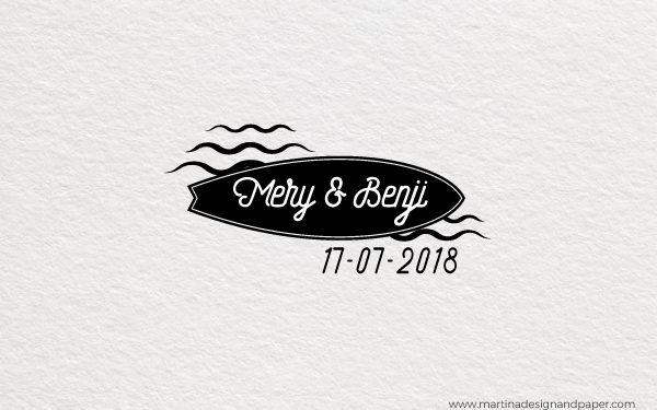 sello para personalizar boda en la playa