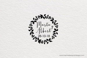 sello personalizado boda estilo campestre