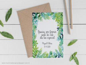 tarjetas gracias boda frases originales