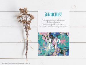 tarjetas gracias por venir boda romantica