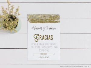 tarjetas gracias por venir boda vintage