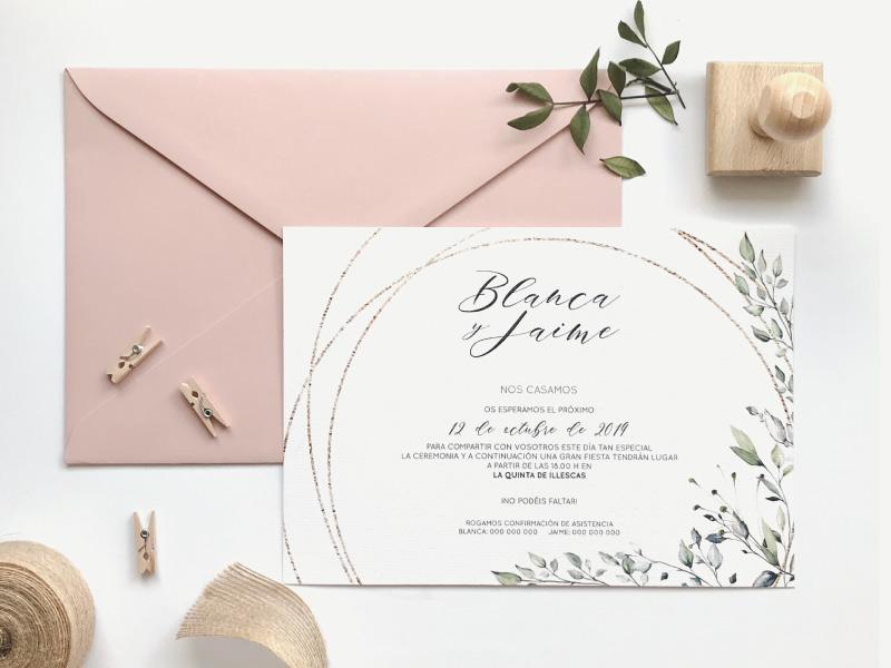 Diseño De Invitaciones De Boda únicas Martina D P