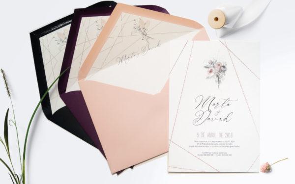 invitacion de boda clasica y romantica